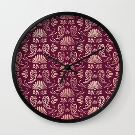 Classic Floral Pattern Wall Clock