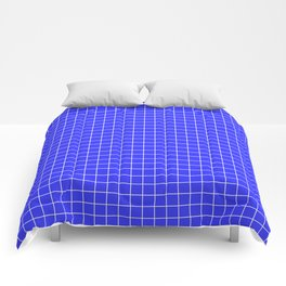 Grid Pattern - bright blue and white - more colors Comforters