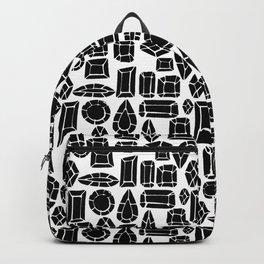 gemstone black and white Backpack