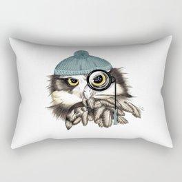 Owl eyeglass and cap Rectangular Pillow