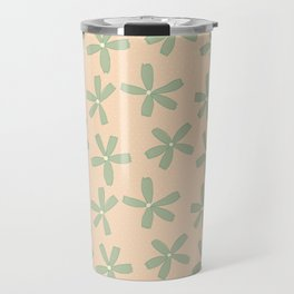 Green & Pink Floral Travel Mug