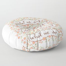 Sense and Sensibility quote Floor Pillow