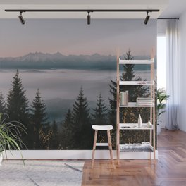 Faraway Mountains - Landscape and Nature Photography Wall Mural