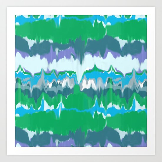 Marbled in jewel Art Print