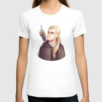 legolas T-shirts featuring Greenleaf by Ryuutsu