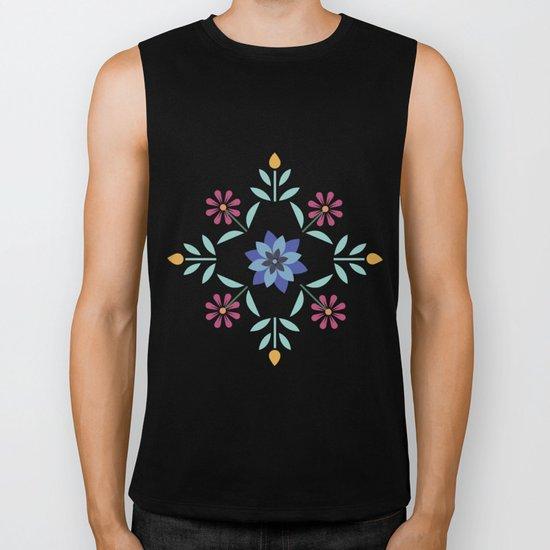 Floral Pattern #3 Biker Tank