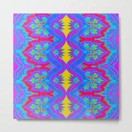 Purple Flame Flower Pattern Metal Print