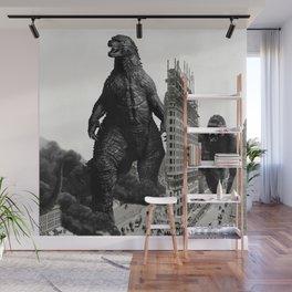 Godzilla and King Kong Visit The Flat Iron Building Wall Mural