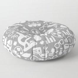 Grey Scientist Floor Pillow