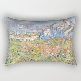 Les Tilleuls à Poissy by Claude Monet Rectangular Pillow