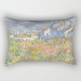 Les Tilleuls à Poissy by Claude Monet Rectangular Pillow