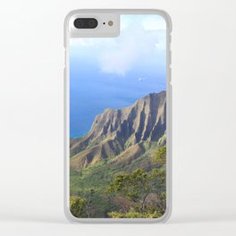 Kalalau Valley Clear iPhone Case