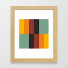 Stripes and swatches Framed Art Print