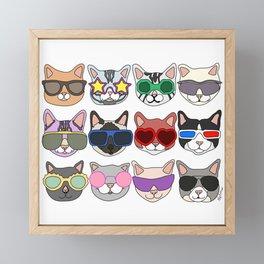 Hollywood Cats Framed Mini Art Print