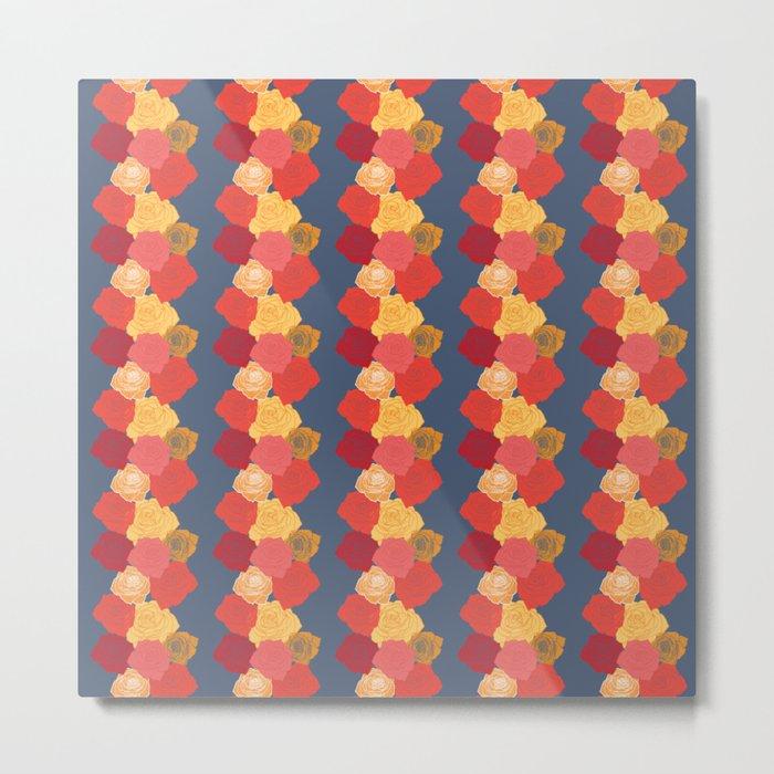 Rosie Stripes Metal Print