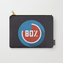 """Print illustration """"percentage - 80%"""" with long shadow in new modern flat design Carry-All Pouch"""