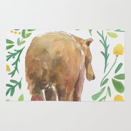 Watercolor Bear Rug