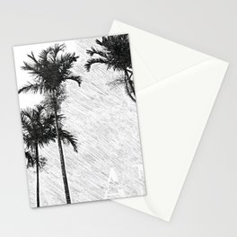 Florida Palm Blue Ink Trees Sketch Art - Andrea Mora Bespoke Art Sunny Skies 20 Shades Stationery Cards
