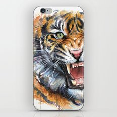 Tiger Watercolor Wild Animal Jungle Animals iPhone & iPod Skin