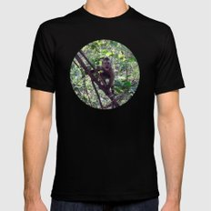 Monkey Sanctuary – Monkey with attitude MEDIUM Black Mens Fitted Tee