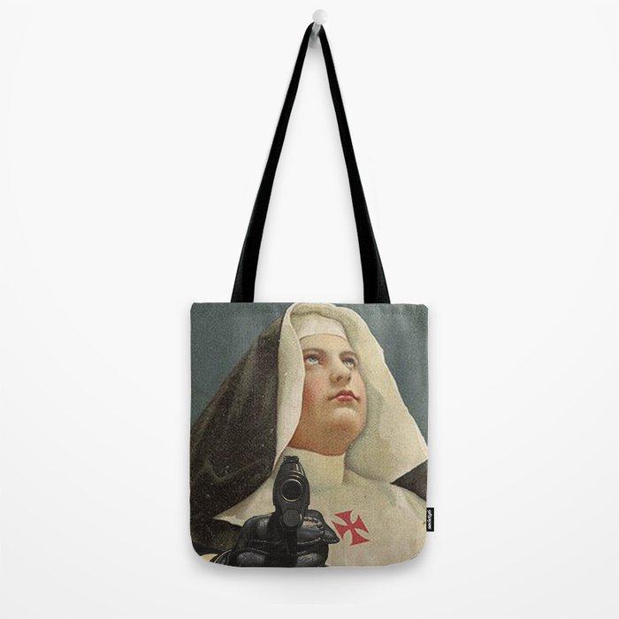 NUN WITH A GUN Tote Bag
