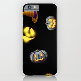 Halloween Jack-O-Lantern Pumpkins & Witch Hats iPhone Case