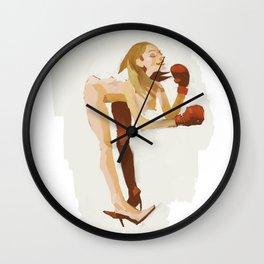 Boxe Girl Wall Clock