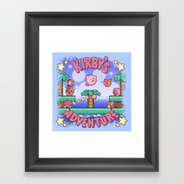 Adventure Kirby Framed Art Print