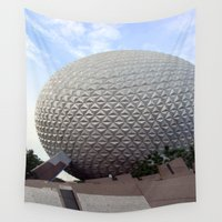 spaceship Wall Tapestries featuring Spaceship Earth by L.D. Franklin