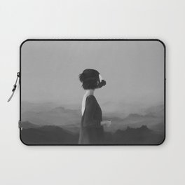 Girl with a gas mask Laptop Sleeve
