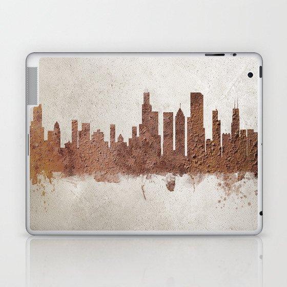 Chicago Illinois Rust Skyline Laptop & iPad Skin