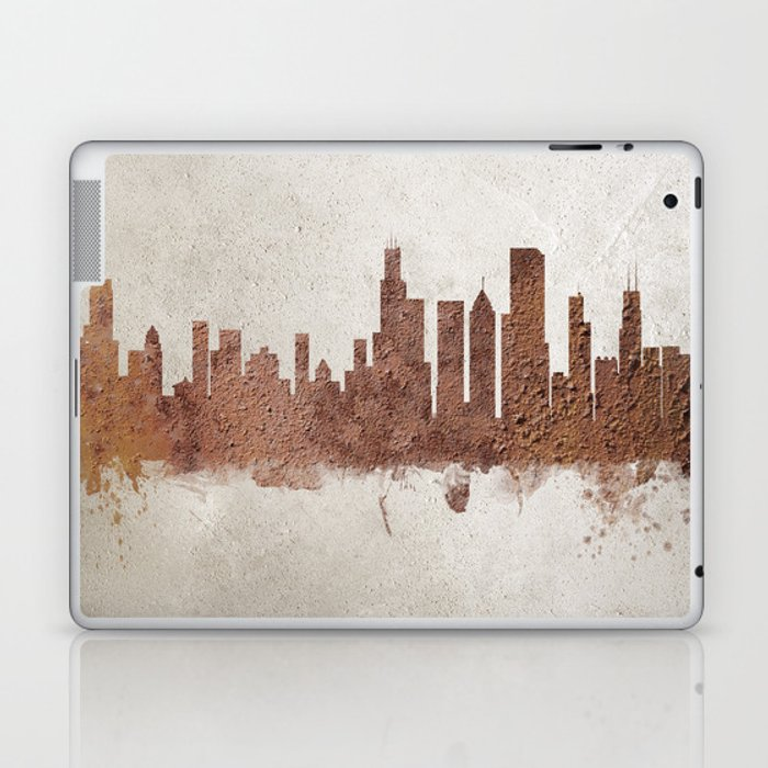 Chicago Illinois Rust Skyline Laptop & iPad Skin