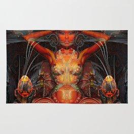 Triptych: Shakti - Red Goddess Rug