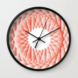PINK RED Abstract Art Wall Clock