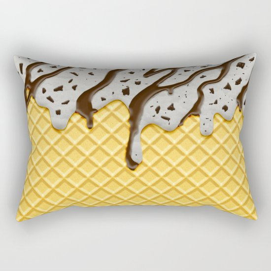 Cookie Ice Cream Rectangular Pillow