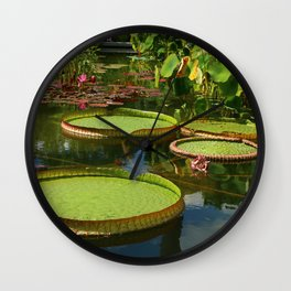 Waterlily Leaf Platters Wall Clock