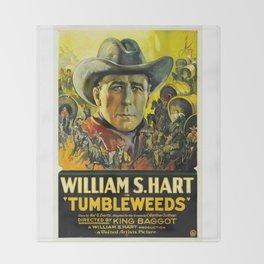 Vintage Movie Posters, Tumbleweeds Throw Blanket