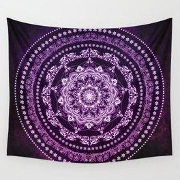 Purple Glowing Soul Mandala Wall Tapestry