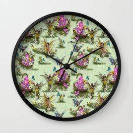 Spring Fairy Butterflies Wall Clock