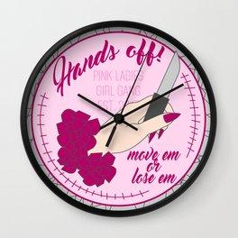 Hands Off! Wall Clock