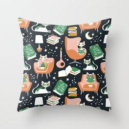 A Tale Of Two Kitties Throw Pillow