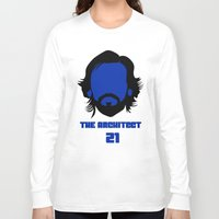 pirlo Long Sleeve T-shirts featuring Pirlo Juventus by Sport_Designs
