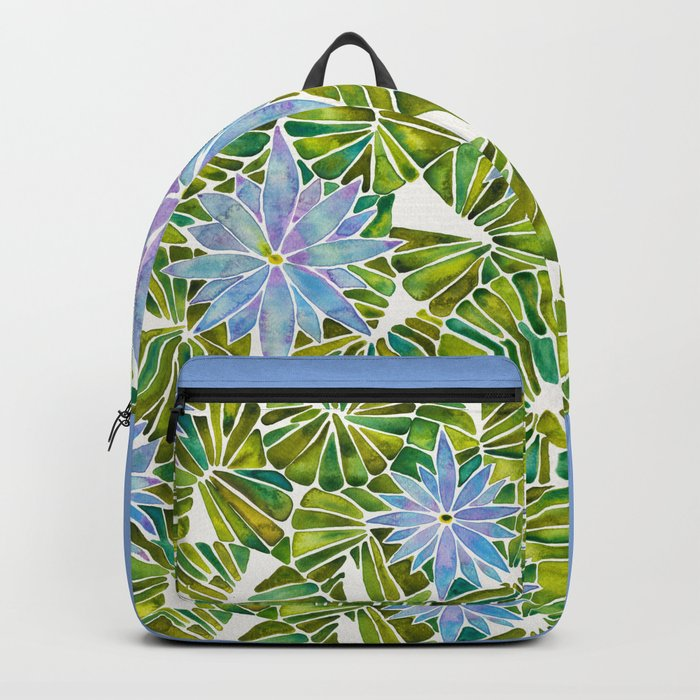 Water Lilies – Lavender & Green Palette Backpack