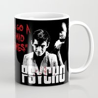 psycho Mugs featuring Psycho by PsychoBudgie