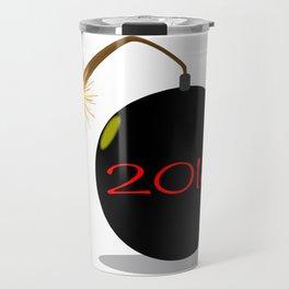 Cartoon 2018 New Year Bomb Travel Mug