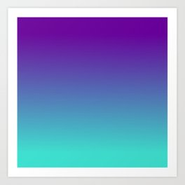 Violet Purple and Turquoise Ombre Art Print
