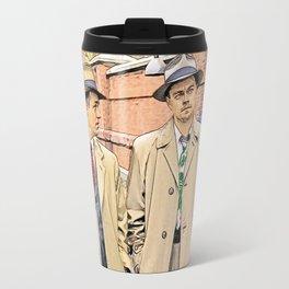 Leonardo DiCaprio in Shutter Island - Colored Sketch Style Travel Mug
