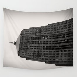 Chicago Board of Trade Building Black and White Wall Tapestry