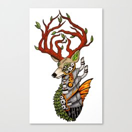 Steampunk Deer Canvas Print