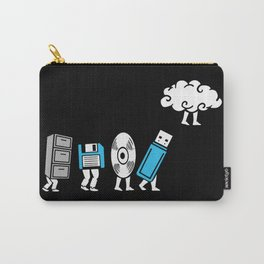 Cloud Computing Data Storage Evolution Progression Carry-All Pouch